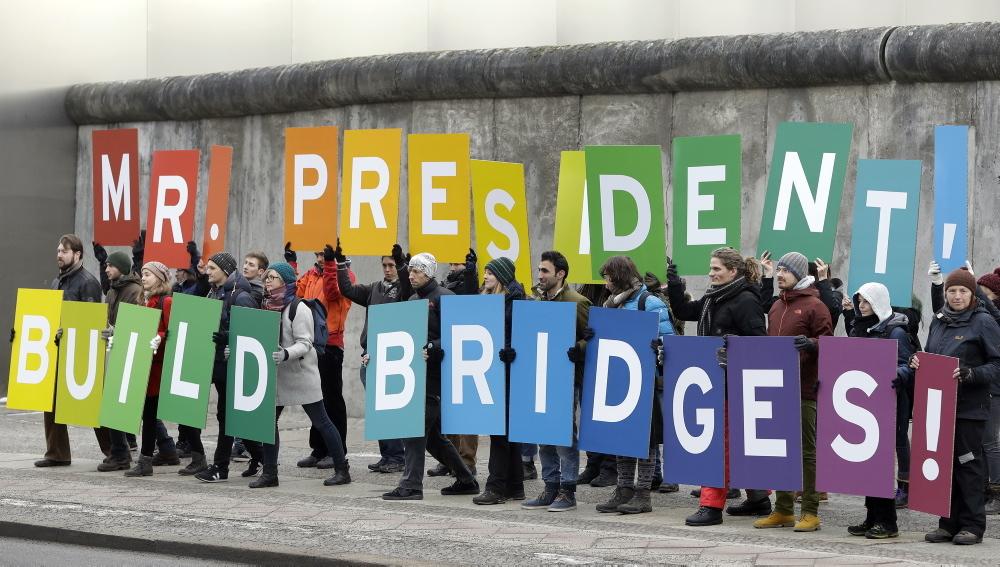 Greenpeace murade in eu byggnad