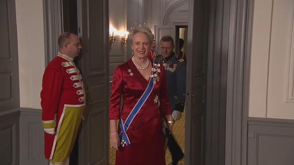 Гала-ужин в честь президента Исландии в Дании Монаршие Дома