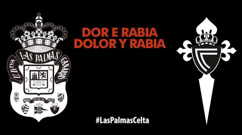 Los jugadores de la UD Las Palmas y Celta lucirán antes del partido una camiseta homenaje a las víctimas de los incendios de Galicia.