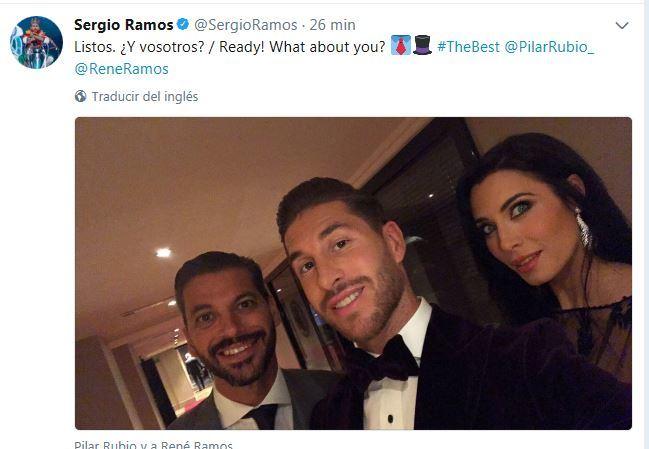 El mensaje de Sergio Ramos en su cuenta de Twitter