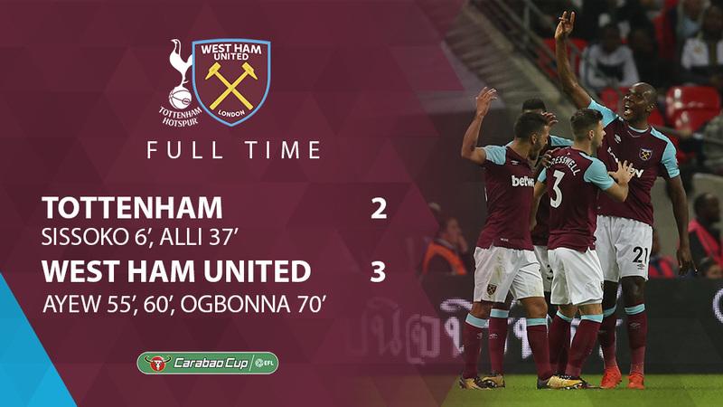 ae6e280c6 As it happened  Tottenham Hotspur 2-3 West Ham United