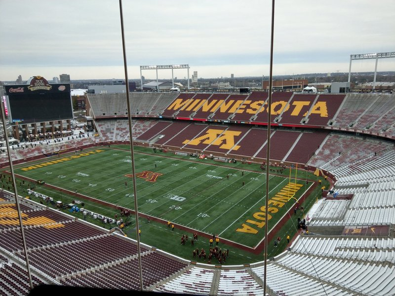 c73c51f6a0826 Today s office view from TCF Bank Stadium. Nebraska-Minnesota on the frozen  tundra for an 11 am kick today.