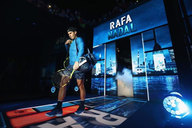 Rafa Nadal, a su salida al O2 Arena, en el que ha jugado dos finales, perdidas, en 2010 y 2013