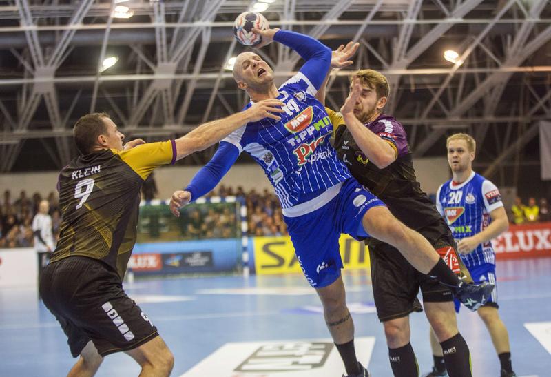 Balogh, en el partido contra el Nantes