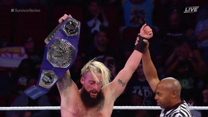 Enzo Amore retiene el campeonato crucero en el kick off de Survivor Series (wwe.com)