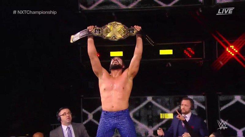 Andrade Cien Almas primer campeón mexicano de NXT (wwe.com)