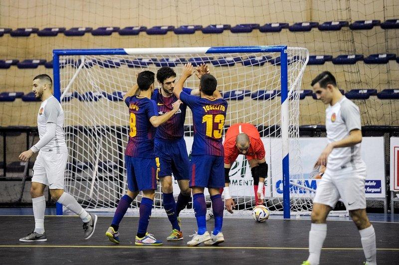 El Barça Lassa celebra un gol FOTO: FCB