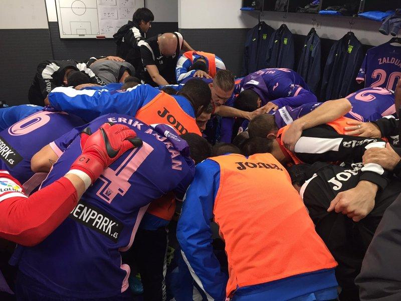 Así se han conjurado los jugadores del Leganés antes del partido