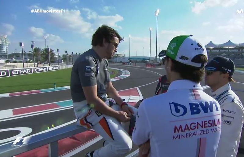 Alonso, en la drivers parade