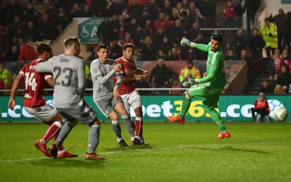 Image result for Bristol City vs manchester united efl cup match