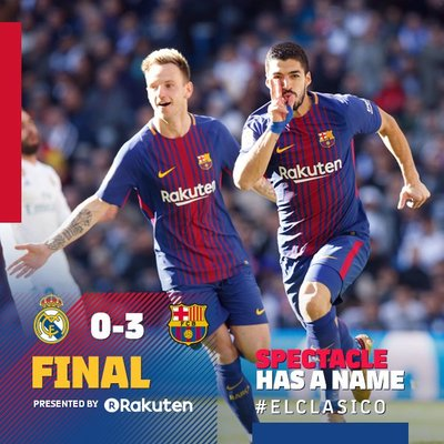 f0b3ab33efc Final whistle in the Bernabéu! Real Madrid 0-3 FC Barcelona ⚽ Suárez