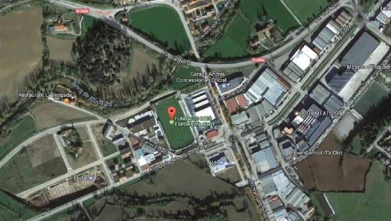 Vista aérea del Estadi Municipal d'Olot