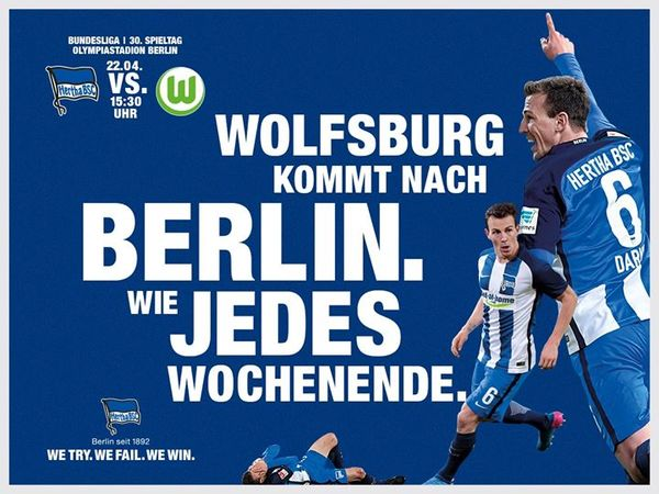 VfL Wolfsburg TICKET 1999//00 Hertha BSC Berlin