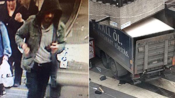 Появилось видео с грузовым автомобилем, врезающимся втолпу людей вСтокгольме