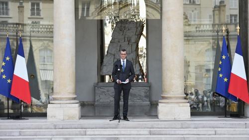 Alexis Kohler, le secrétaire général de l'Elysée lors de l'annonce du gouvernement © AFP