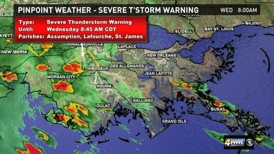 Severe weather in Louisiana: Track storms on radar and