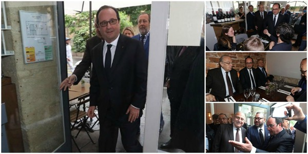 Macron Grand Restaurant Parisien