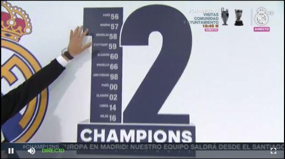 Las 12 copas del Real Madrid