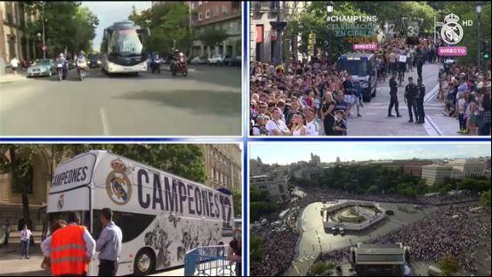 Los lugares por los que pasaran los jugadores del Real Madrid