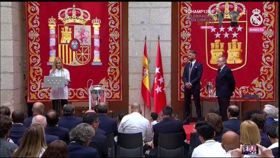 Felicitaciones de la presidenta de la Comunidad de Madrid