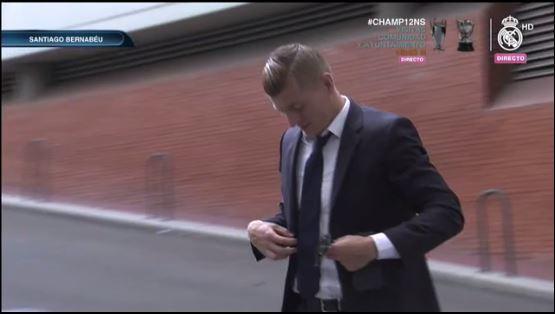 Llega Kroos al Santiago Bernabéu