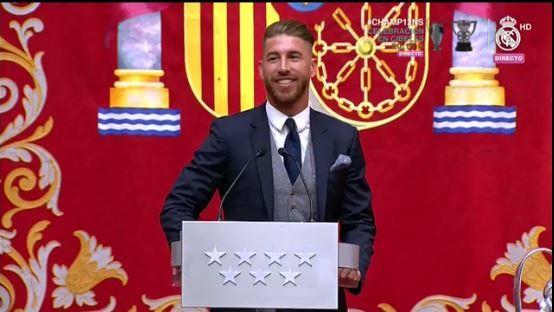 Sergio Ramos da su discurso