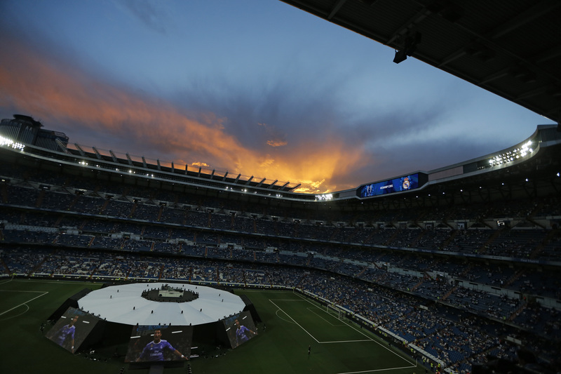 El Bernabéu, de gala para recibir a los campeones de Europa FOTO: EFE