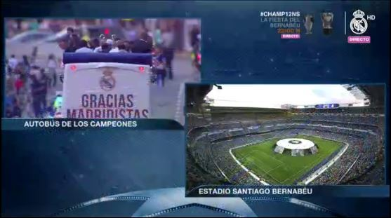 Así luce los interiores del estadio Santiago Bernabéu