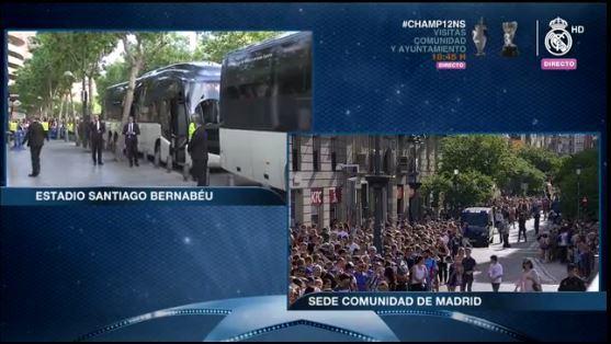 En instantes comienza el recorrido hacia la sede Comunidad de Madrid