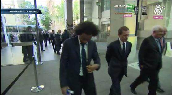 Marcelo en su llegada al Ayuntamiento