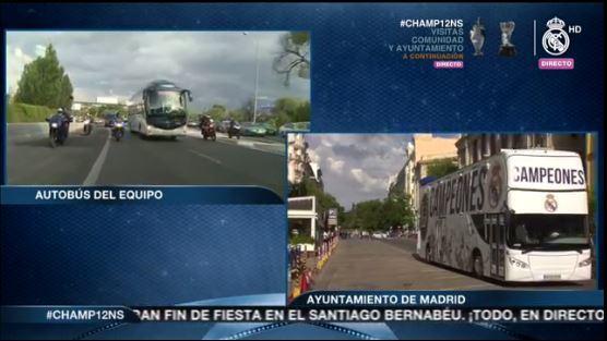 El bus descapotable que transportará a los jugadores en el festejo