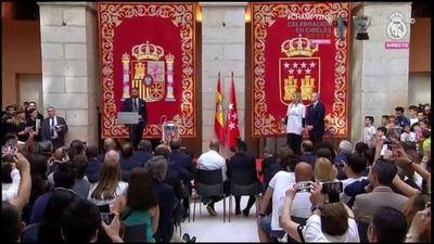 El capitán del Madrid da su discurso