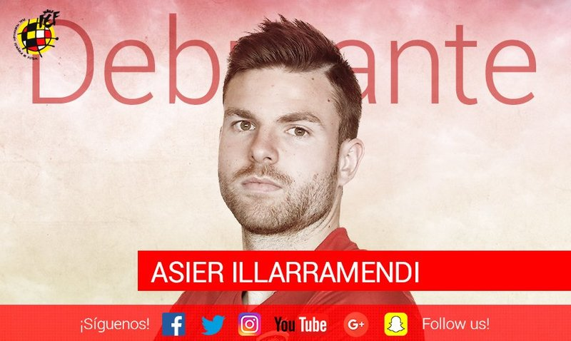 Illarramendi debuta hoy con la selección absoluta.