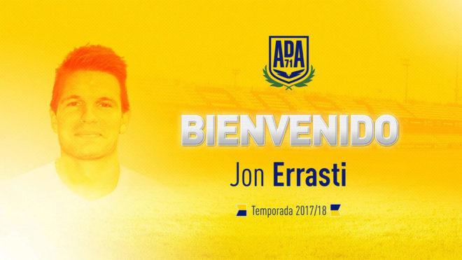 Jon Errasti, en el Alcorcón hasta 2019