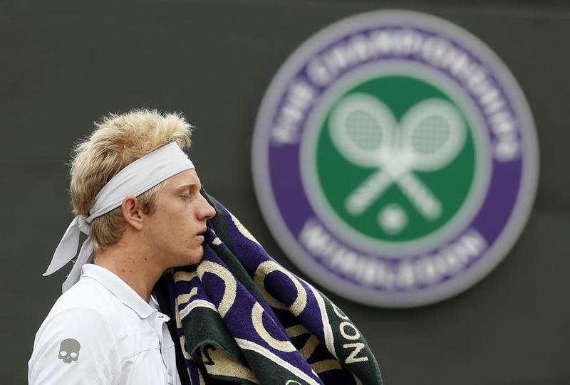 El español Alejandro Davidovich buscando el título júnior de Wimbledon