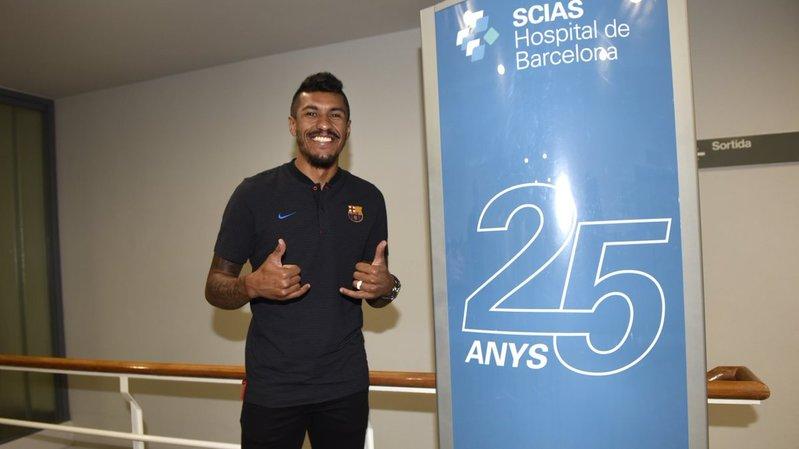 Paulinho, en el Hospital de Barcelona