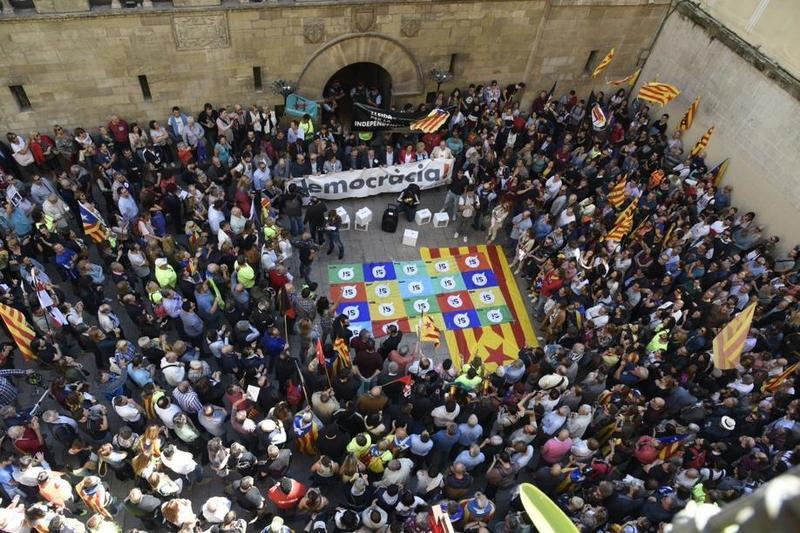 Concentración en Lleida. FOTO: EFE