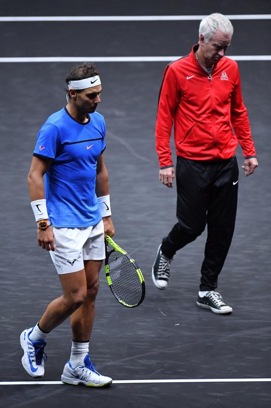Vaya dos, Nadal y McEnroe, hoy rivales