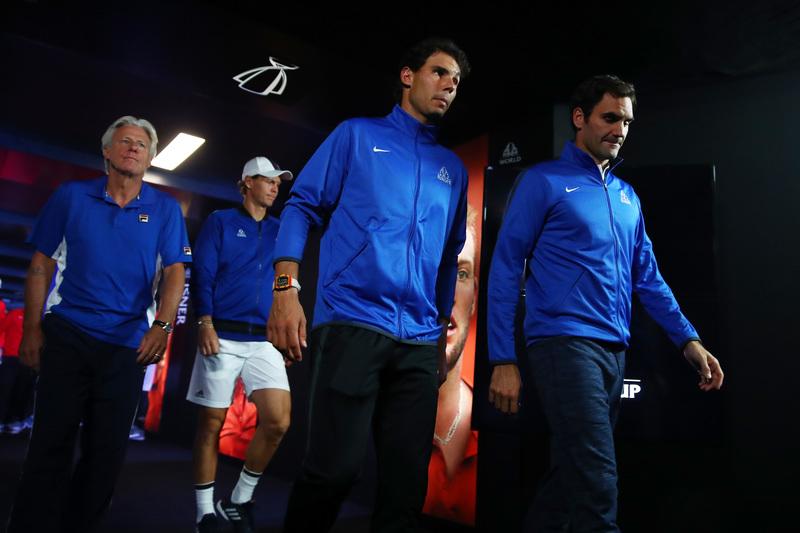 Mucho mito junto: Borg, Nadal, Federer...