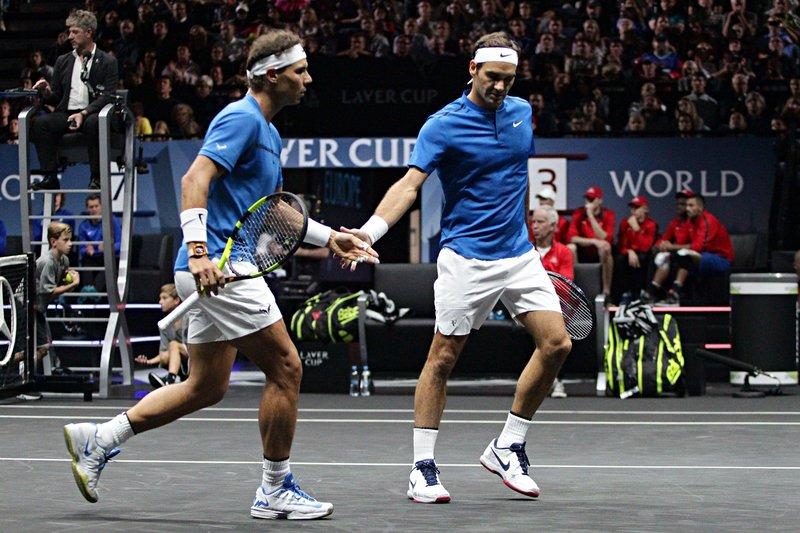 Nadal y Federer, compenetrados
