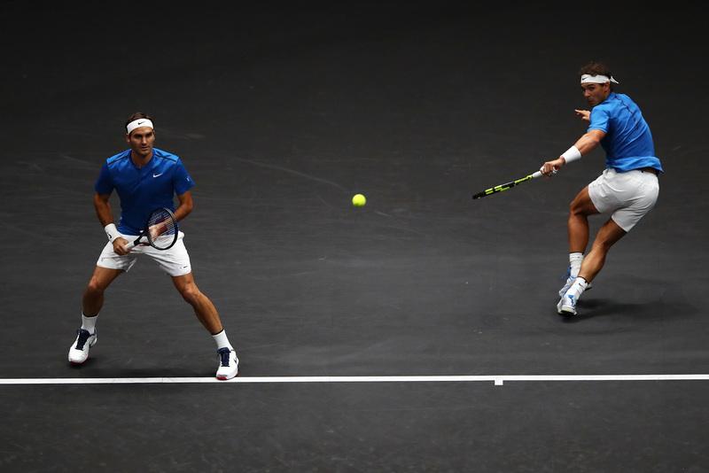 Ndal y Federer, en equipo