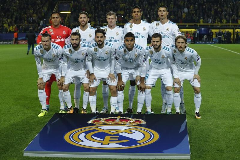 Este es el once del Real Madrid en Dortmund FOTO: EFE