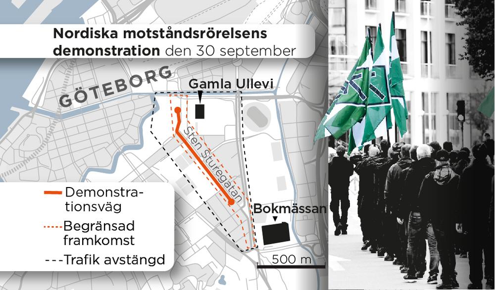 Nordiska motstandsrorelsen i goteborg flera tagna av polisen
