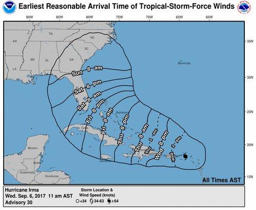 Irma slams Cuba, wobbles west and takes aim at Florida