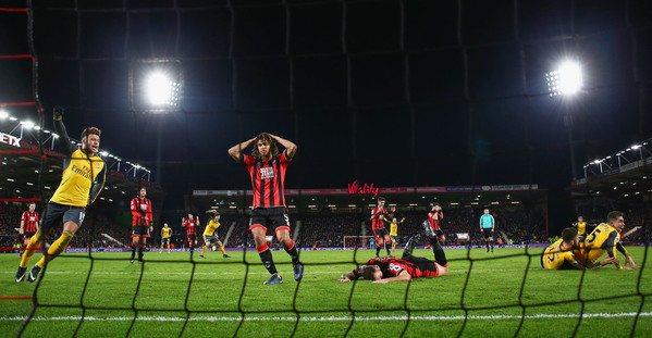 Without Sanchez, Arsenal loses 2-1 to Bournemouth in EPL