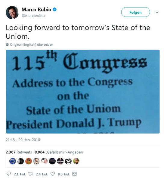 USA: Weißes Haus blamiert sich mit Einladung zu \