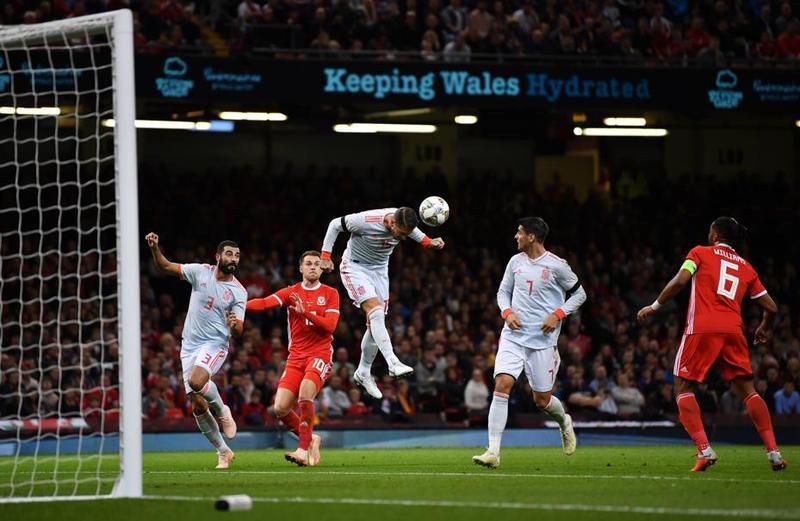 Momento en el que Ramos hizo el segundo para España