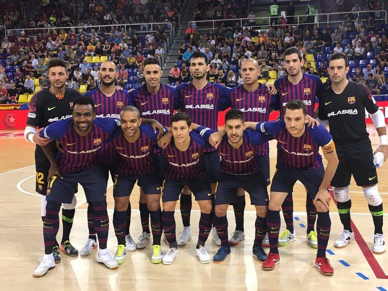 El Barça Lassa, formado antes del partido FOTO. FCB