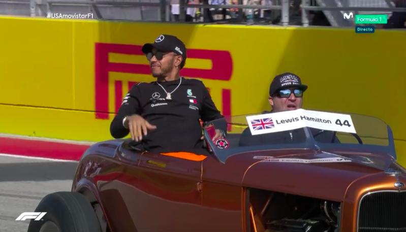 Hamilton en la Drivers Parade.