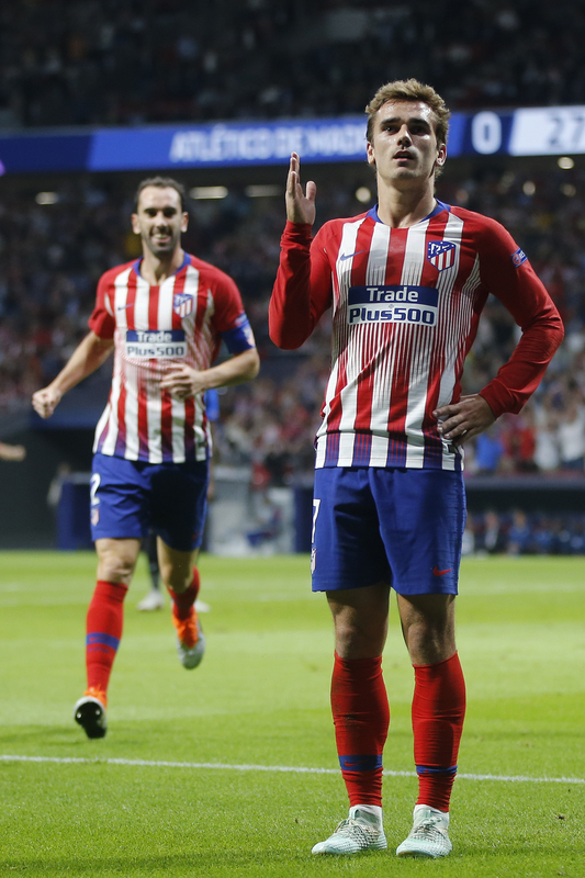 Así celebró Griezmann el gol del Atlético de Madrid...